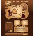 Coffee web template vector image vector image