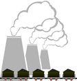 Coal industry 2 vector image vector image
