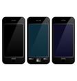 Black mobile phone smartphone vector image
