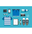 teenage travel accessories flat design vector image