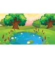Cartoon Pond Near The Forest vector image