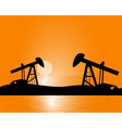 oil production from beneath the earth vector image