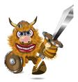 aggressive viking vector image