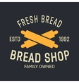 bakery logo label design elements vector image