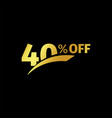 black banner discount purchase 40 percent sale vector image