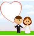 cartoon wedding couple vector image