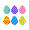 easter eggs icons decorated colorful painter set vector image