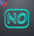 NO Norway translation icon symbol 3D style Trendy vector image