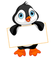 Penguin sign vector image