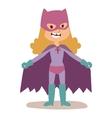 Superhero kid girl cartoon vector image