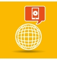 global web network cellphone gear icon vector image vector image