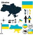 Map of Ukraine vector image vector image