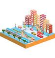 3D city vector image