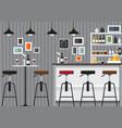 bar interior vector image