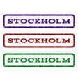 stockholm watermark stamp vector image