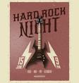 hard rock night party flyer vector image