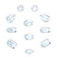 Diamond Set Isolated Objects vector image