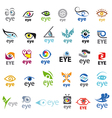 biggest collection of logos Eye vector image