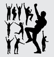 Happy people male and female silhouettes vector image