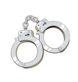 Iron handcuffs for criminal vector image vector image