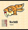 Aztec symbol Tochtli vector image