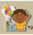 boy balloons gifts vector image