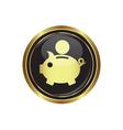 copypig icon button gold copy vector image