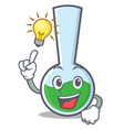 have an idea tube laboratory character cartoon vector image