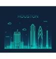 Houston skyline trendy linear vector image