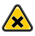 mark irritant sign triangular sticker vector image