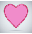 Pink paper heart with shadow vector image