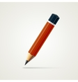 Realistic detailed sharpened pencil isolated on vector image