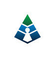 triangle security vector image