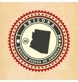 Vintage label-sticker cards of Arizona vector image