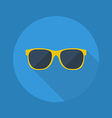 Weather Flat Icon Sunglasses vector image