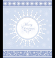Winter background or snowflakes frame vector image