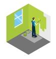 House Painter Isometric Design vector image
