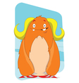 Cute Yeti cartoon character vector image vector image