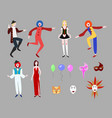 flat carnival collection vector image vector image