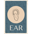 Retro grunge background with ear vector image