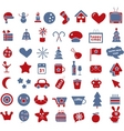50 winter  holidays signs vector image vector image