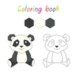 Coloring book panda kids layout for game vector image