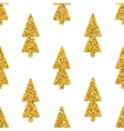 Christmas Tree White Seamless Background vector image