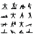 Training pictograms vector image