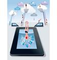 Springboard Digital Tablet vector image vector image