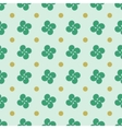 Polka dot and flower geometric seamless pattern 1 vector image