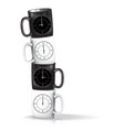 all time empty coffee cups vector image