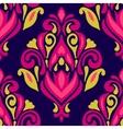 baroque damask pattern tile vector image