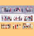 corporate parties set vector image