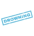 Drowning Rubber Stamp vector image